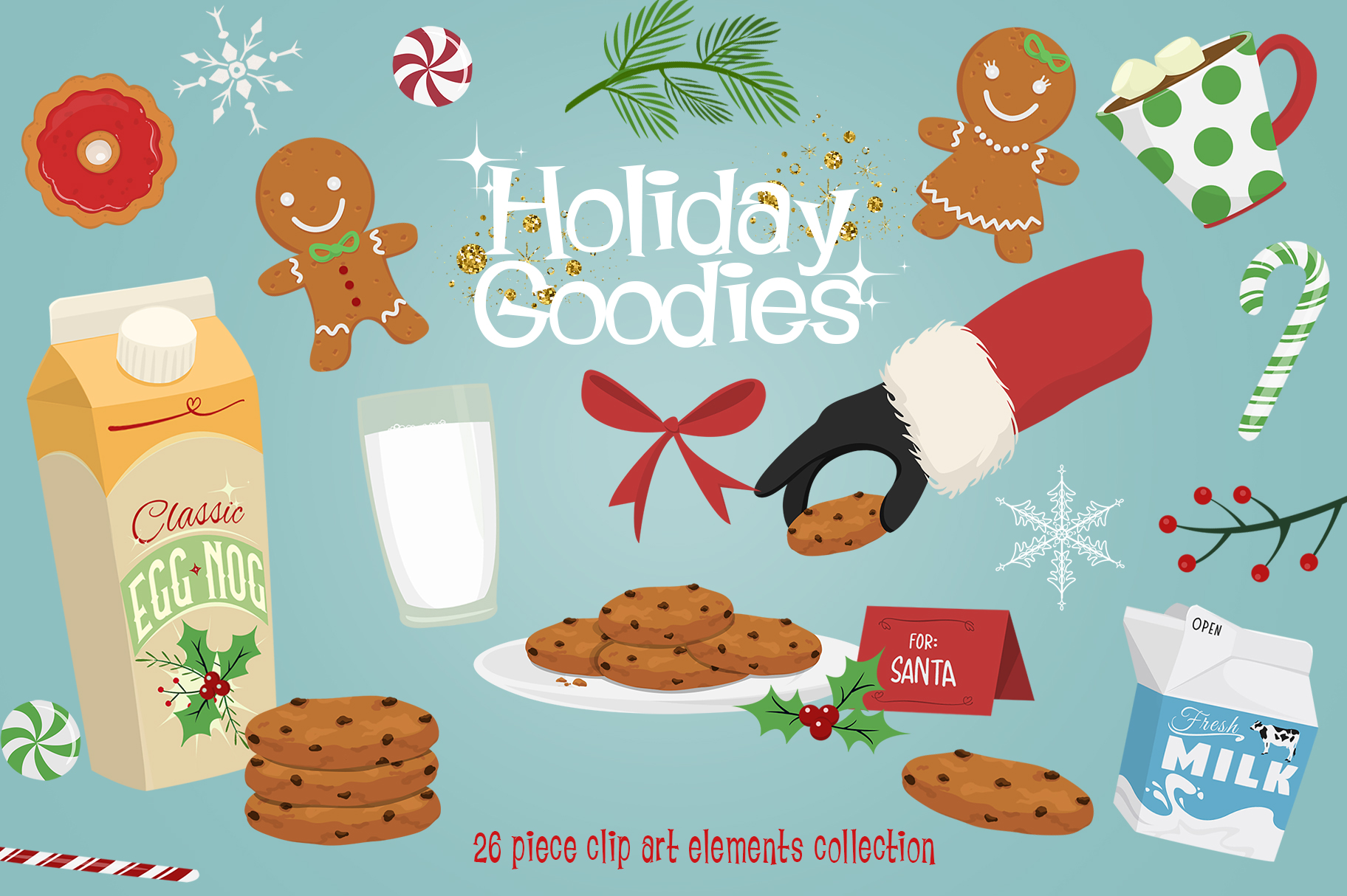 Download Free Holiday Goodies Collection Graphic By Dapper Dudell Creative for Cricut Explore, Silhouette and other cutting machines.