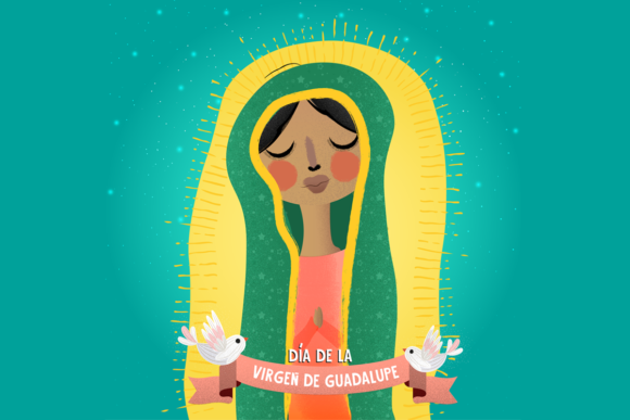 Print on Demand: Virgen De Guadalupe Illustration Graphic Illustrations By Samis Lapin - Image 1