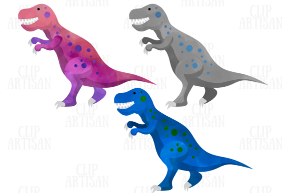Watercolor Dinosaurs Clipart Graphic Illustrations By ClipArtisan - Image 2