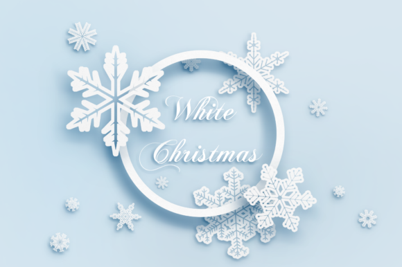 Snowflakes - White Christmas Graphic Objects By FaeryDesign