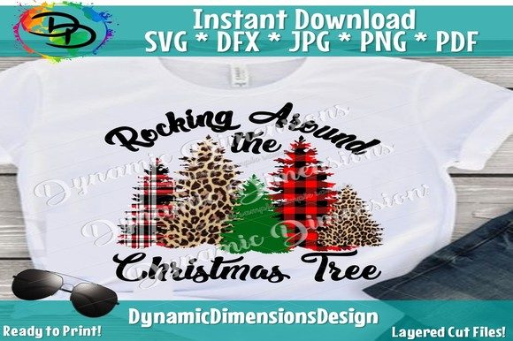 Rocking Around the Christmas Tree Graphic By dynamicdimensions