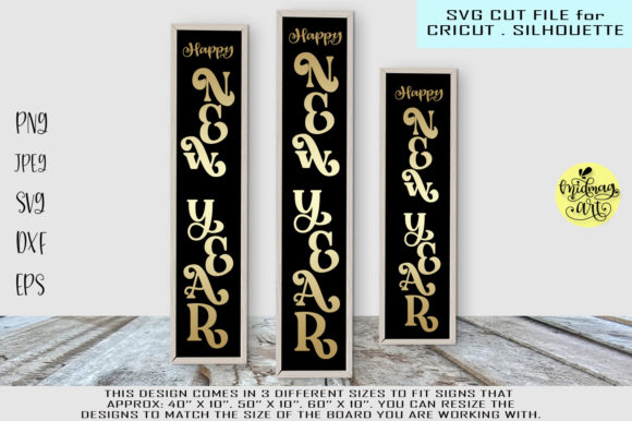 Happy New Year Sign Graphic By MidmagArt