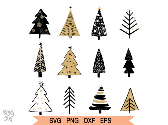 Download Free Christmas Tree Graphic By Roxysvg26 Creative Fabrica for Cricut Explore, Silhouette and other cutting machines.