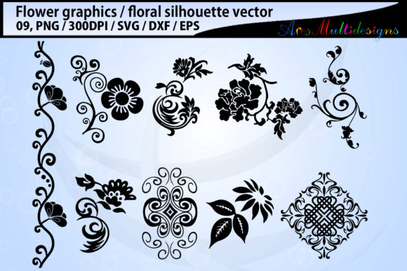 Print on Demand: Flowers Graphic Illustrations By Arcs Multidesigns