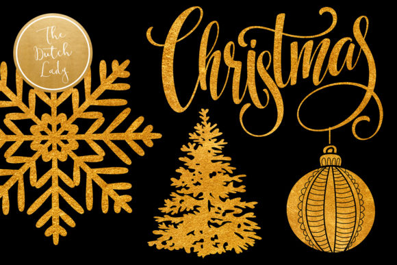 Print on Demand: Christmas Ornaments Clipart Set Graphic Illustrations By daphnepopuliers - Image 4