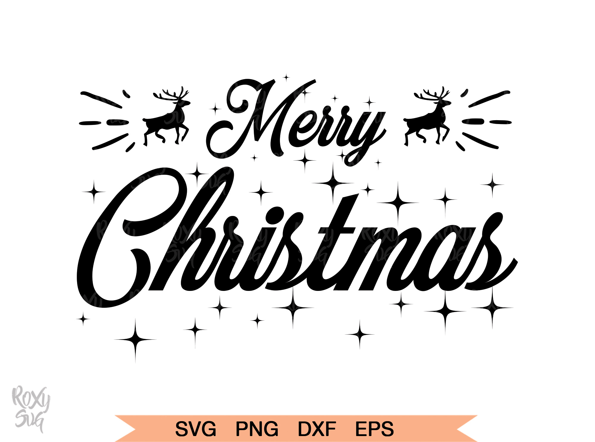 Download Free Merry Christmas Graphic By Roxysvg26 Creative Fabrica for Cricut Explore, Silhouette and other cutting machines.