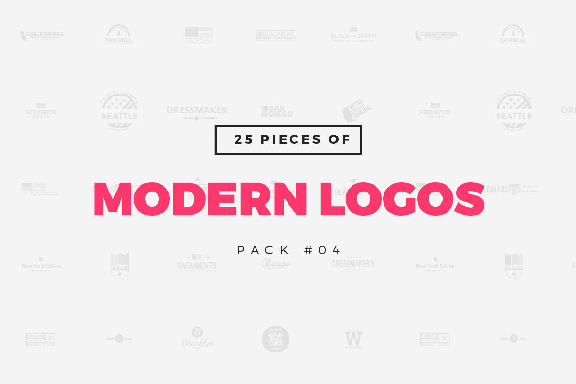 Download Free 25 Modern Logo Templates Graphic By Wornoutmedia Creative Fabrica for Cricut Explore, Silhouette and other cutting machines.
