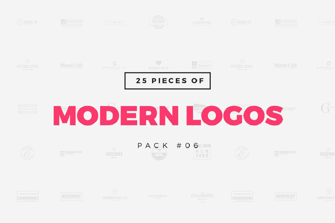 Download Free Pack 06 25 Modern Logo Templates Graphic By Wornoutmedia for Cricut Explore, Silhouette and other cutting machines.