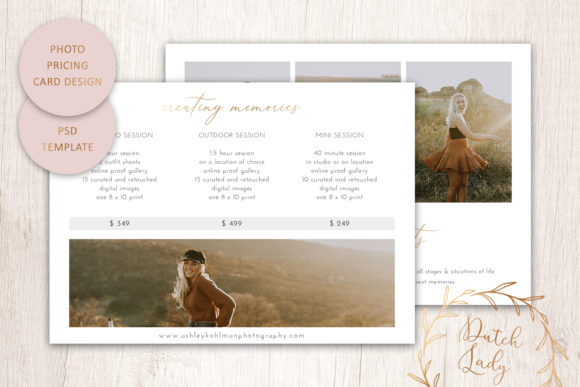 Download Free Psd Photography Price Card Template 19 Graphic By for Cricut Explore, Silhouette and other cutting machines.