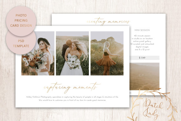 Print on Demand: PSD Photography Price Card Template #19 Graphic Print Templates By daphnepopuliers