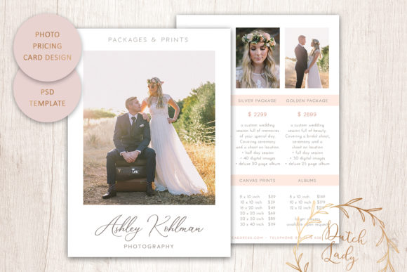 Print on Demand: PSD Photography Price Card Template Graphic Print Templates By daphnepopuliers