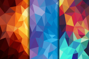 Polygonal Background Blue Brown Graphic By noory.shopper