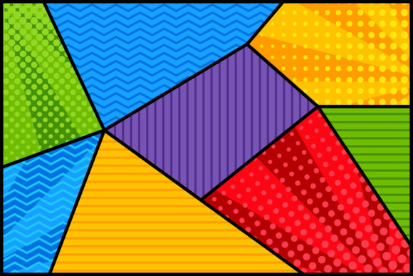 Polygonal Comic Background Graphic By noory.shopper