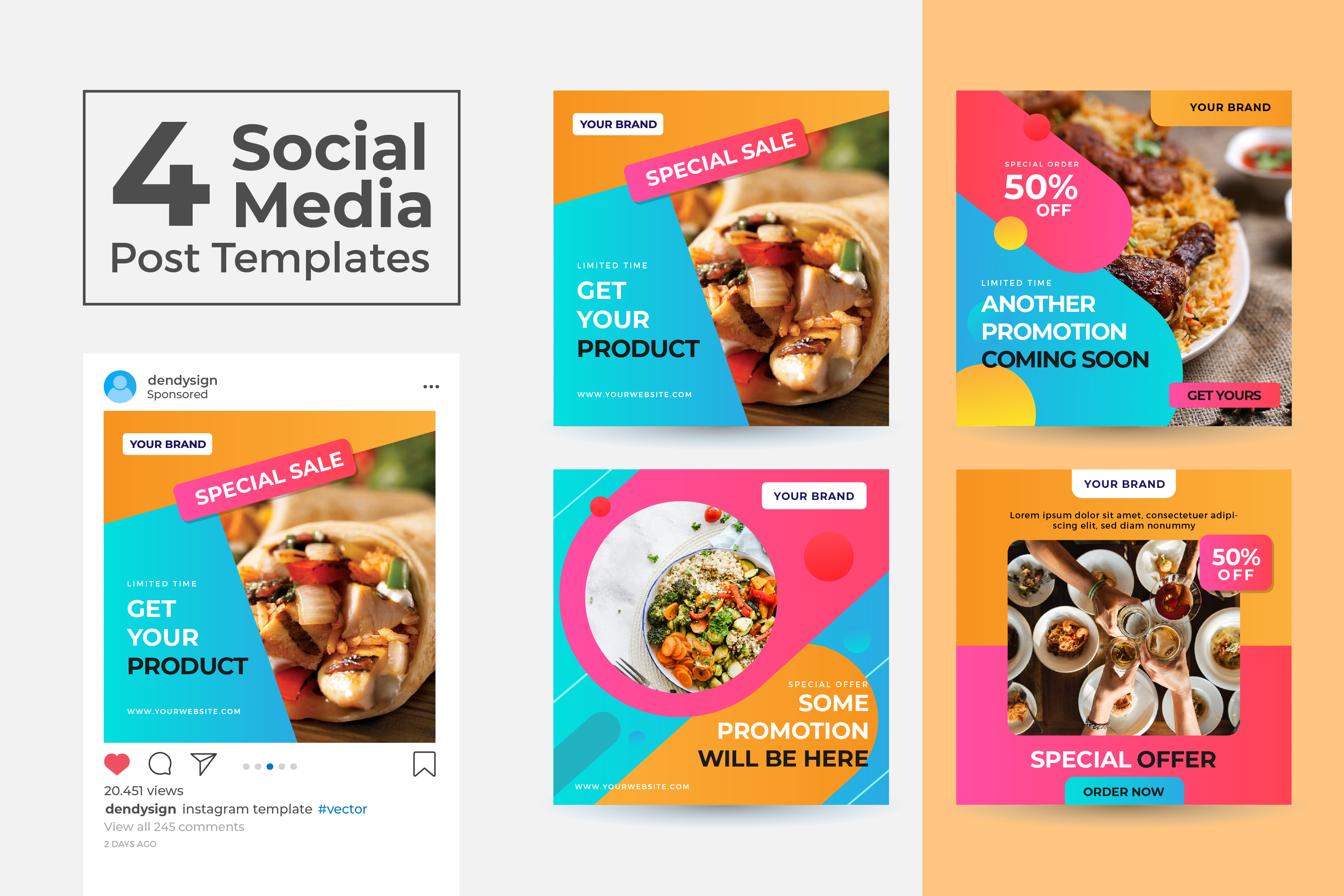 Download Free Social Media Post Template Vol 05 Graphic By Dendysign SVG Cut Files