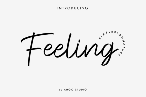 Print on Demand: Feeling Signature Script & Handwritten Font By Yusuf Artworks