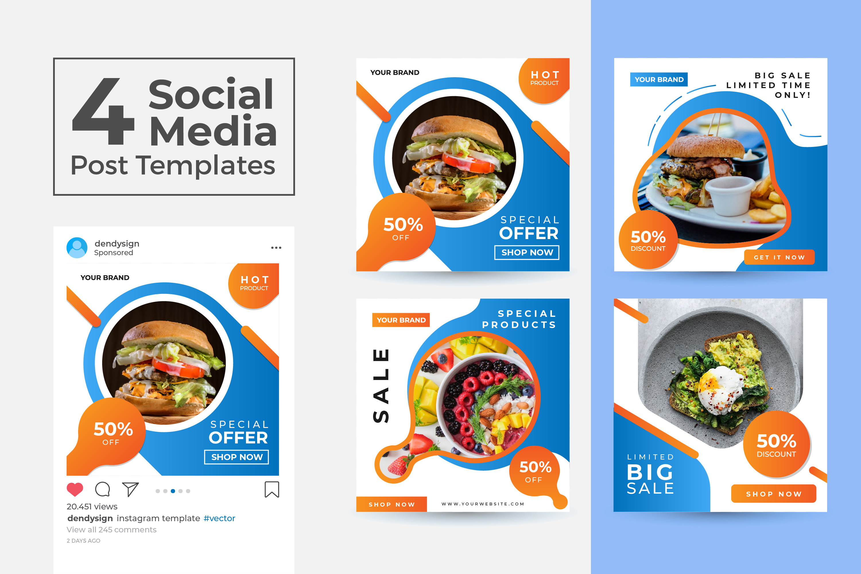 Download Free Social Media Post Template Vol 09 Graphic By Dendysign SVG Cut Files
