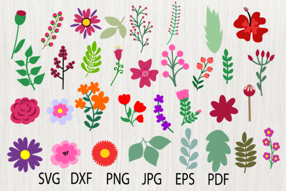 Download Free Paper Flower Template Bundle Flower Petal Leaf Graphic By for Cricut Explore, Silhouette and other cutting machines.