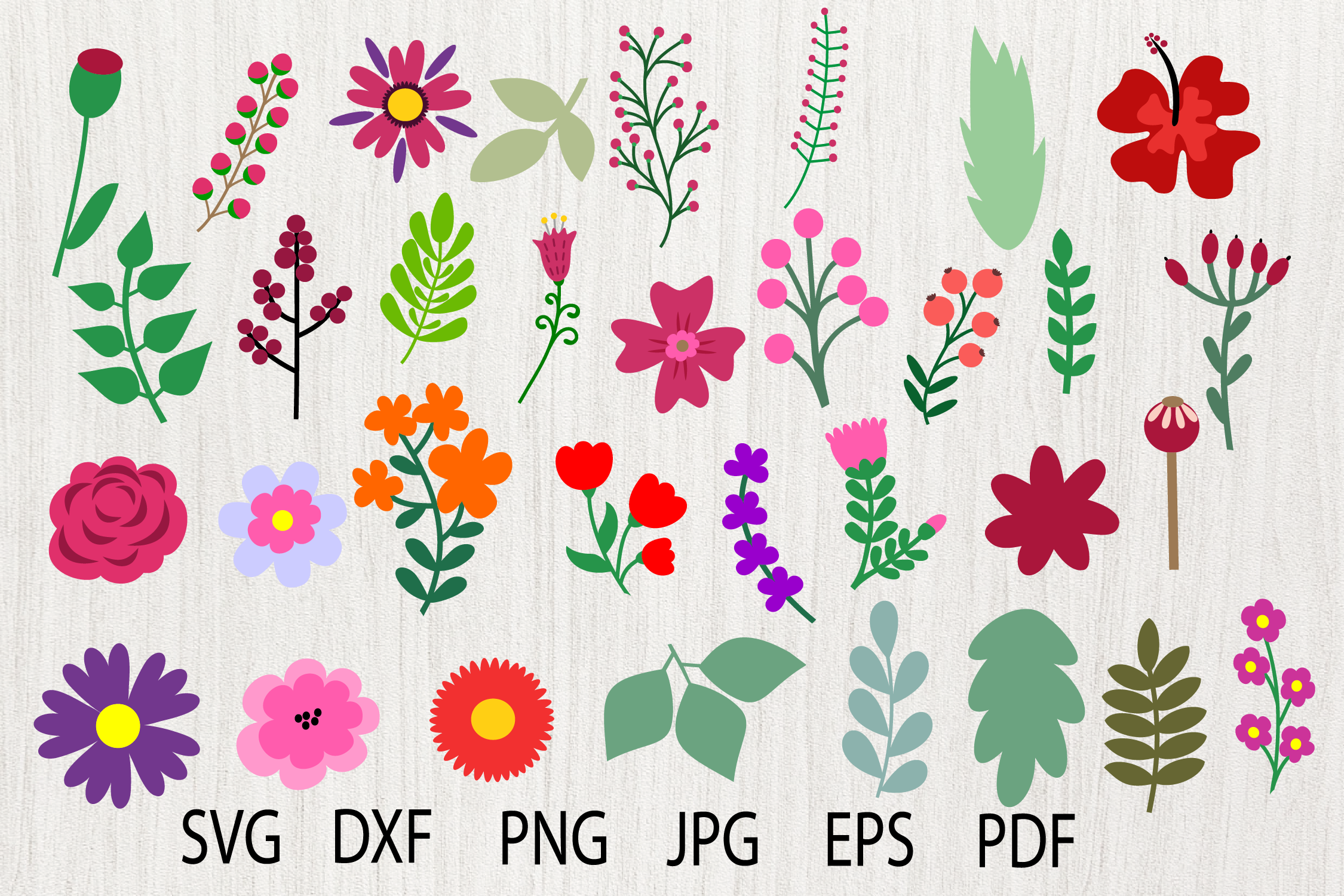 Download Free Flower Graphic By Yulnniya Creative Fabrica for Cricut Explore, Silhouette and other cutting machines.