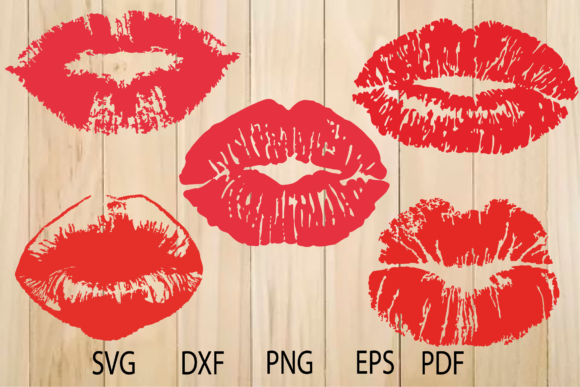 Print on Demand: Lips Graphic Crafts By yulnniya
