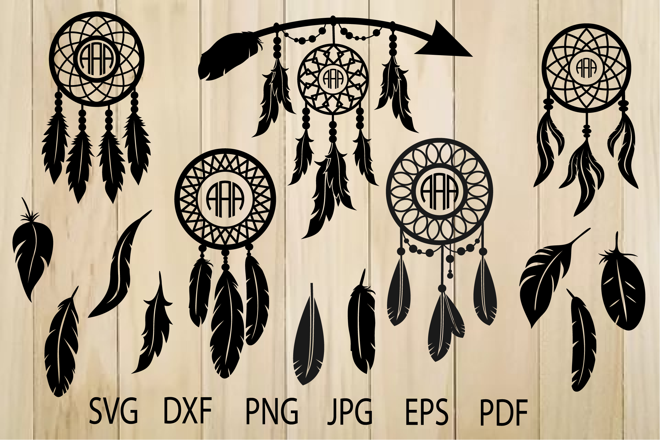 Download Free Dream Catchers Graphic By Yulnniya Creative Fabrica for Cricut Explore, Silhouette and other cutting machines.