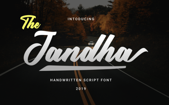 Print on Demand: Jandha Script & Handwritten Font By kammaqsum