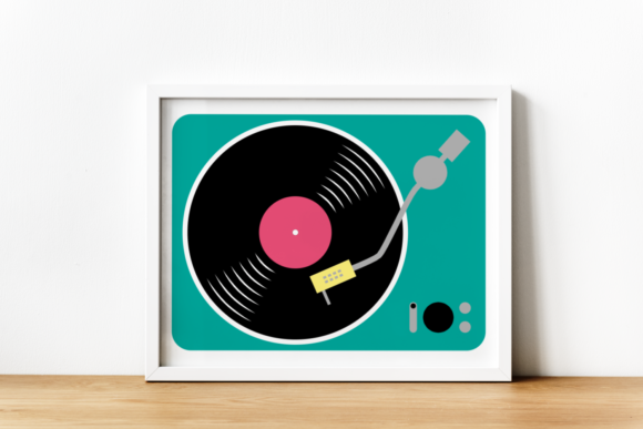 Record Player Graphic Crafts By RisaRocksIt