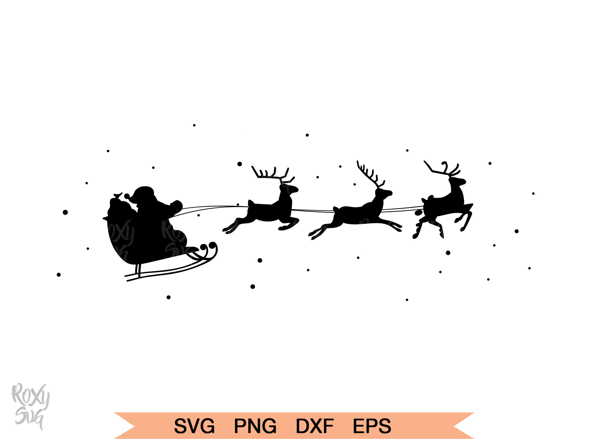Download Free Santa Claus Reindeer Graphic By Roxysvg26 Creative Fabrica for Cricut Explore, Silhouette and other cutting machines.