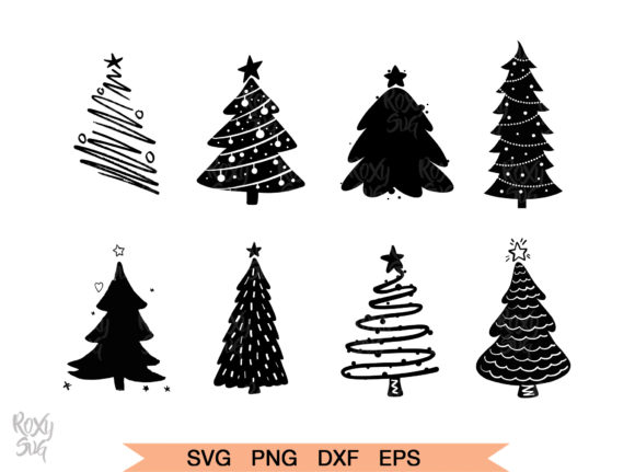 Christmas Tree Silhouette Graphic By roxysvg26