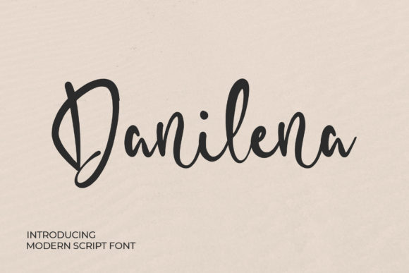 Print on Demand: Danilena Script & Handwritten Font By Bangkit Setiadi
