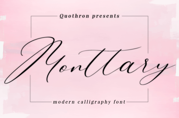 Print on Demand: Monttary Script & Handwritten Font By it_was_a_good_day