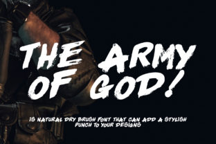Download Free The Army Of God Font By Thomasaradea Creative Fabrica for Cricut Explore, Silhouette and other cutting machines.