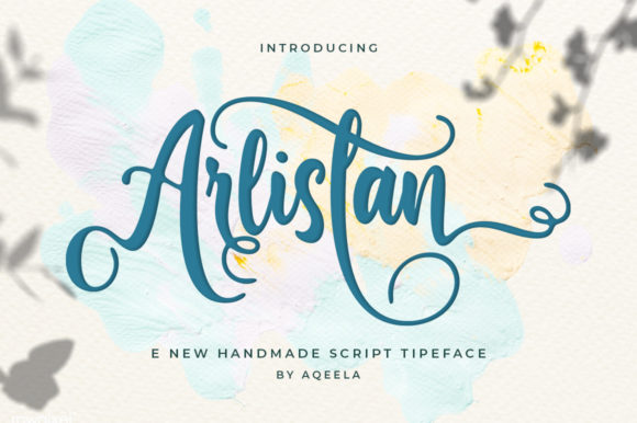 Print on Demand: Arlistan Script & Handwritten Font By Aqeela Studio - Image 1