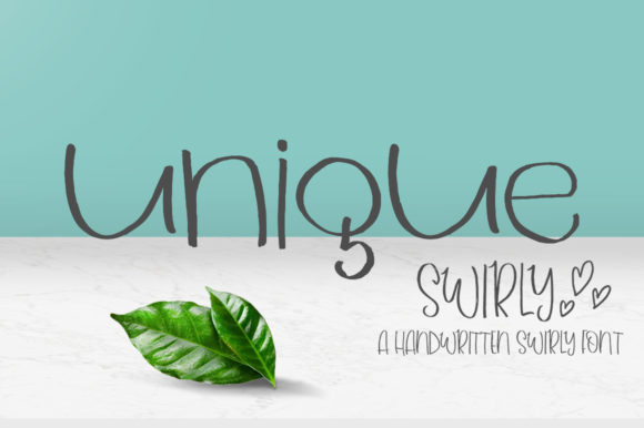 Print on Demand: Unique Swirly Script & Handwritten Font By delishadesign.font