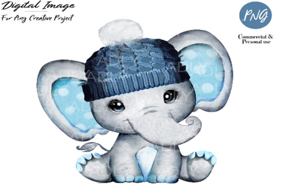 Winter Boy Elephant Clip Art Graphic By adlydigital