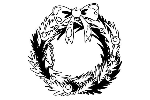 Download Free Wreath With Bow Svg Cut File By Creative Fabrica Crafts for Cricut Explore, Silhouette and other cutting machines.