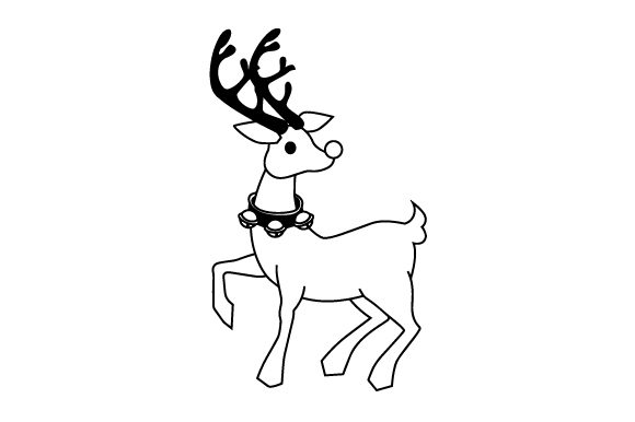 Rudolph Christmas Craft Cut File By Creative Fabrica Crafts - Image 2
