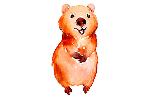 Download Free Quokka In Watercolor Style Svg Cut File By Creative Fabrica for Cricut Explore, Silhouette and other cutting machines.