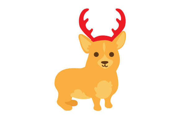 Download Free Dog With Red Antlers Svg Cut File By Creative Fabrica Crafts for Cricut Explore, Silhouette and other cutting machines.
