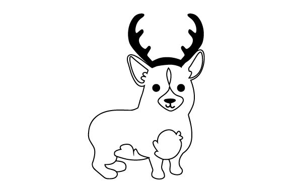 Download Free Dog With Red Antlers Svg Cut File By Creative Fabrica Crafts Creative Fabrica for Cricut Explore, Silhouette and other cutting machines.