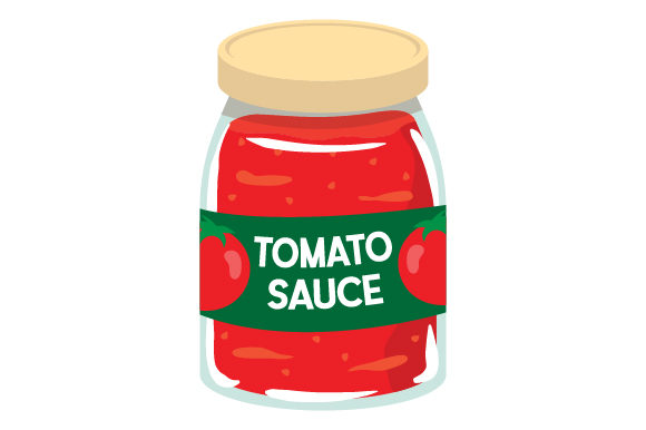 Tomato Sauce Jar Kitchen Craft Cut File By Creative Fabrica Crafts - Image 1