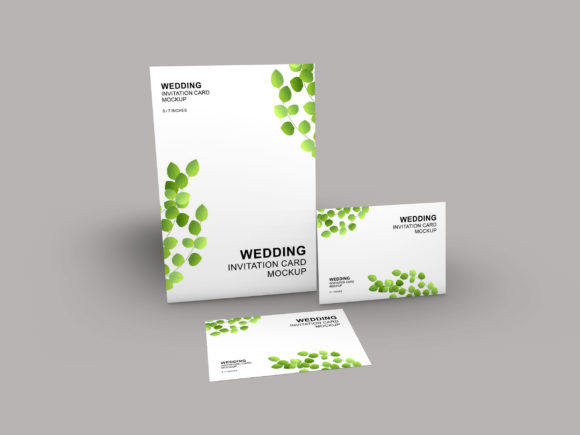 Download Free Wedding Card Mockup Template Graphic By Patternhousepk for Cricut Explore, Silhouette and other cutting machines.