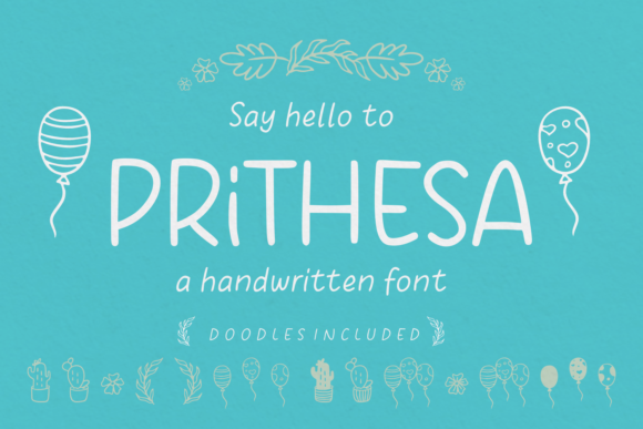 Print on Demand: Prithesa Script & Handwritten Font By Situjuh - Image 1