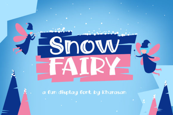 Snow Fairy Display Font By Khurasan