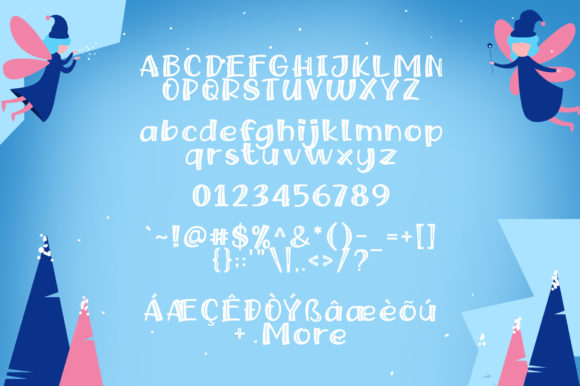 Print on Demand: Snow Fairy Display Font By Khurasan - Image 6