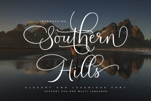 Print on Demand: Southern Hills Script & Handwritten Font By Cooldesignlab