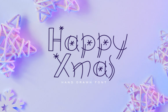 Print on Demand: Happy Xmas Display Font By Happy Letters