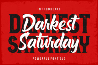 Print on Demand: Darkest Saturday Duo Blackletter Font By figuree studio
