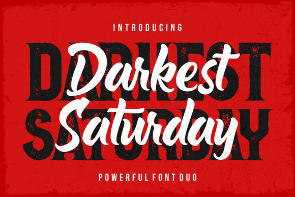 Darkest Saturday Duo Blackletter Font By figuree studio