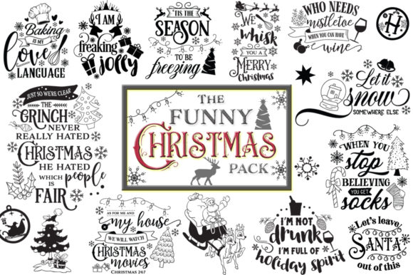 The Funny Christmas Pack Graphic Crafts By Nerd Mama Cut Files