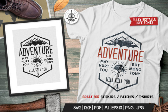 Download Free Adventure Logo Design Camping Retro Graphic By Jeksongraphics for Cricut Explore, Silhouette and other cutting machines.